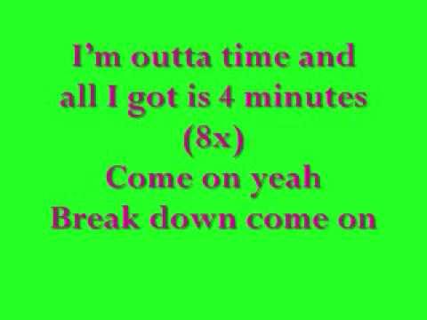 madonna and justin timberlake ft timberland 4 minutes lyrics (song)
