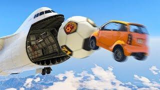 IMPOSSIBLE GTA 5 FOOTBALL SHOTS! (GTA 5 Funny Moments)