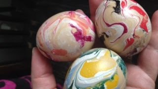 Easter eggs with nail polish BETTER WAY without gloves