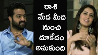 Jr NTR Making Super Fun With Raashi Khanna |  Team Funny Interview