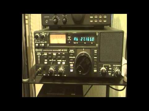 ICOM IC-R70  USA Truckers on 27.165mhz AM CB Radio