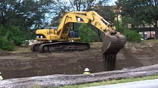 Cattleman Road Cat 325D Backhoe and 725 Dump Truck