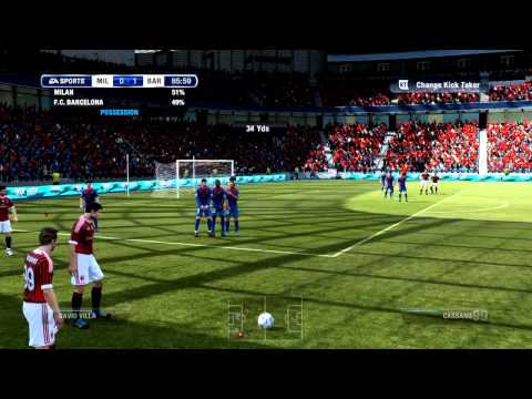 FIFA 12 DEMO: Sexy Second Man Freekick! Barcaboy Eat Your Heart Out!