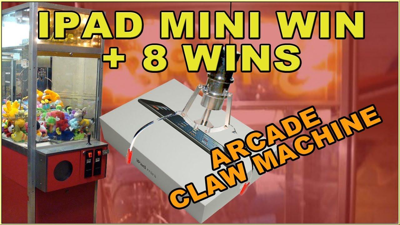 Winning an IPAD MINI & 8 Prizes Betson Big Choice Claw Machine Arcade ...