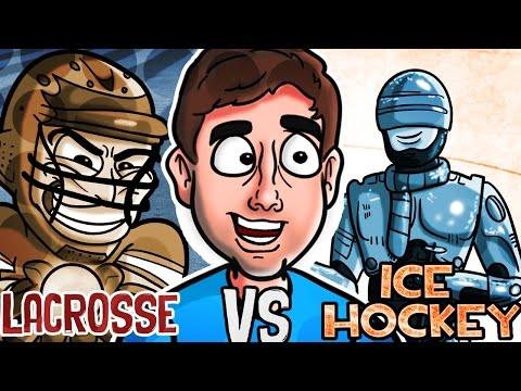 LACROSSE Vs. ICE HOCKEY | Bad British Commentary