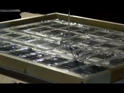 DIY Solar Panel $1 A WATT photovoltaic (part 5) Solar Cell Mounting ENCAPSULATION
