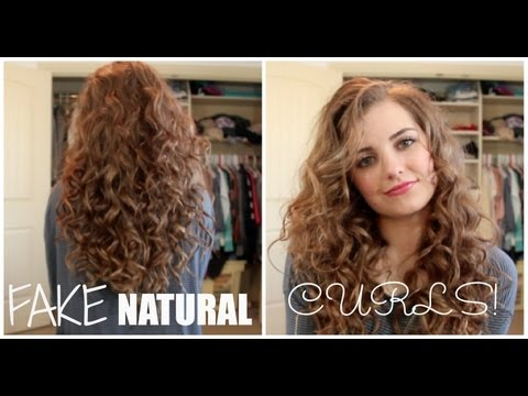 How To Fake Naturally Curly Hair!