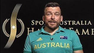 "Kurt Fearnley accepts 2018 Sport Australia Hall of Fame ""Don"" Award"