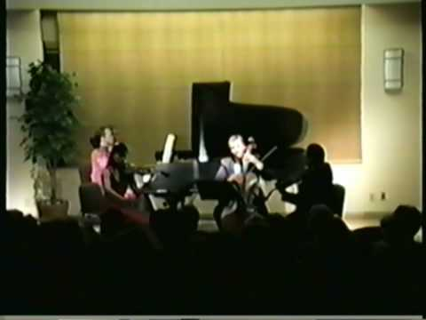 Judith Burganger Plays Piano Quartet Op. 26 First Movement by Brahms - Part I Video