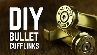 DIY Projects - Bullet cufflinks