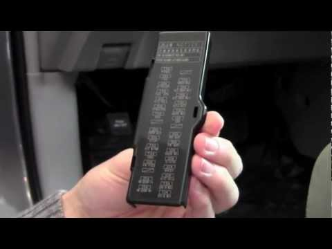 2012 Toyota Highlander Fuses Under Dash How To By Toyota