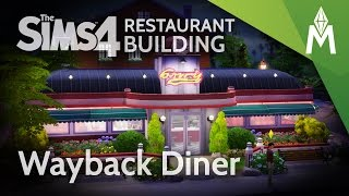 The Sims 4 Restaurant Building - Wayback Diner (Micro Build)