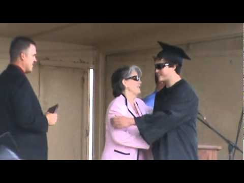 5-28-11 - Bryson Grennan receives his diploma from Fort Morgan High School