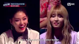 [ENG SUB] HIT THE STAGE Chungha vs Momo Freestyle Dance Battle