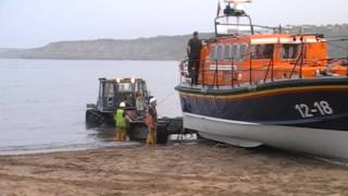 How to get a Lifeboat out of the sea - RNLI Scarborough
