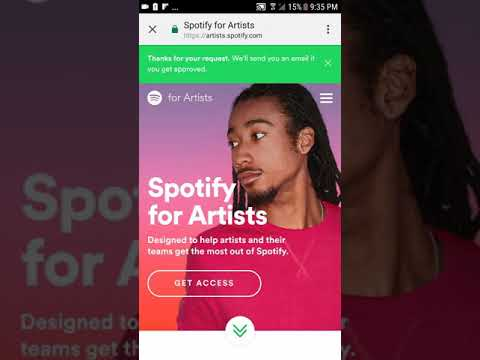 How to get access to your Spotify account edit your bio design your page using distrokid