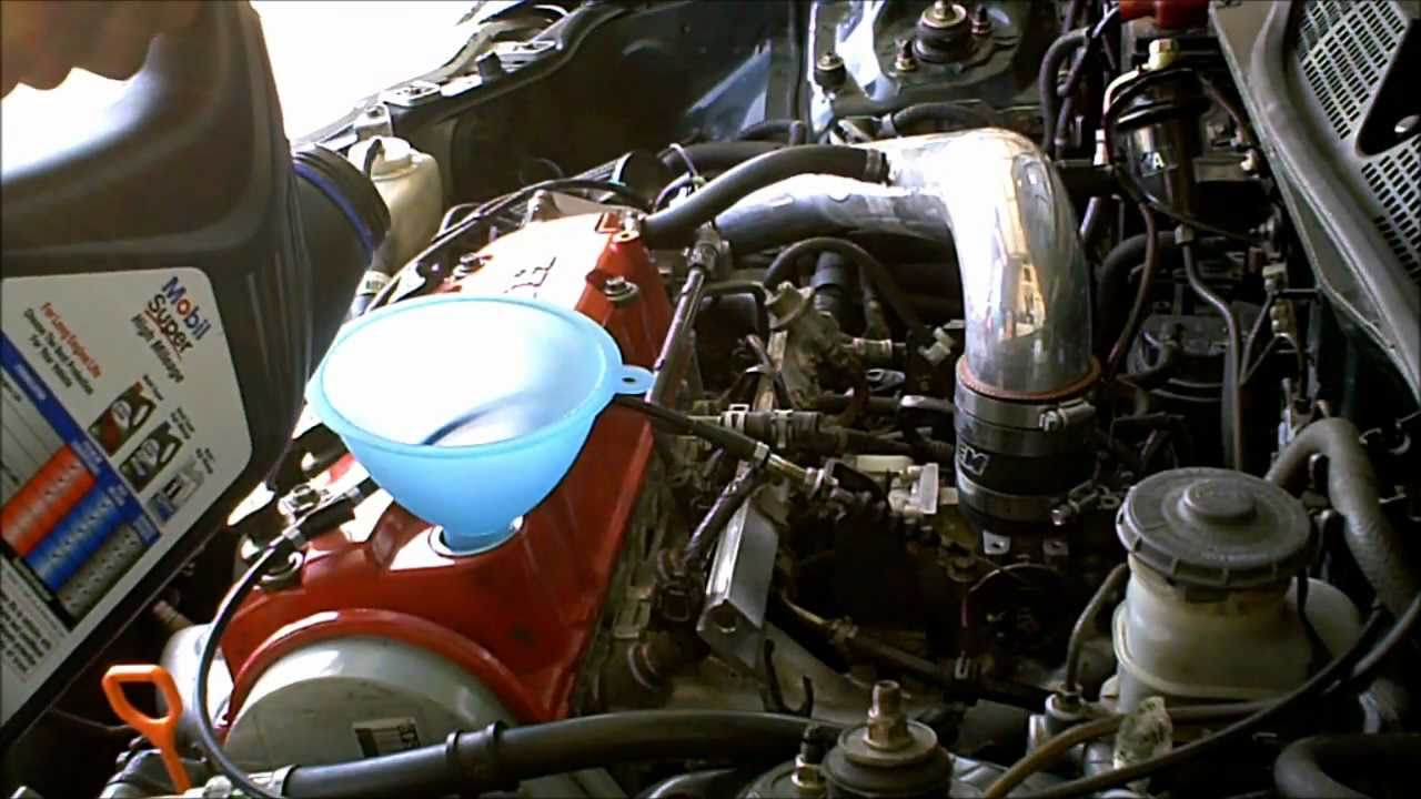 Oil Change On 1999 Honda Civic With Mobil Super High