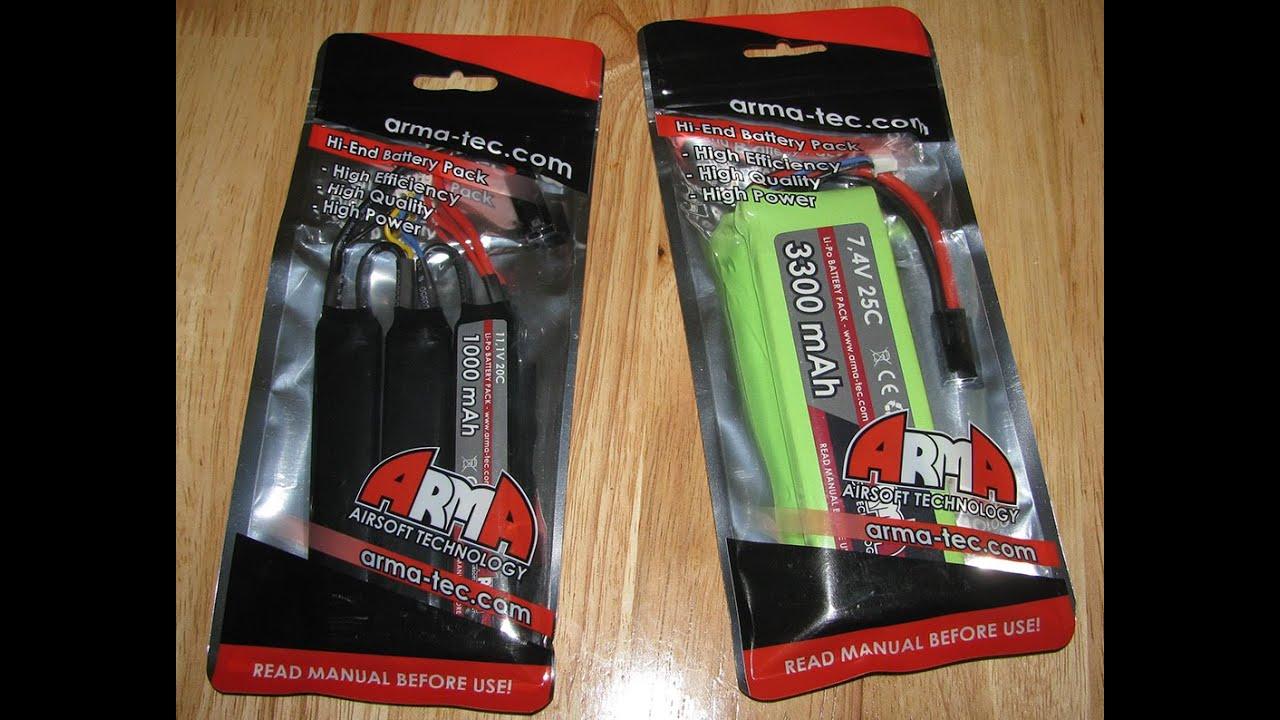 Arma Tech Li po battery packs review