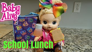 BABY ALIVE Lulus School Lunch Play Doh Sandwich