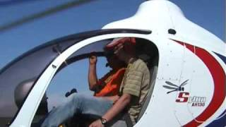 Syton AH130 startup and takeoff on flight school in Caposile