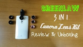 GreenLaw Universal 3 in 1 Clip On Camera Lens Kit Review & Unboxing [HD]