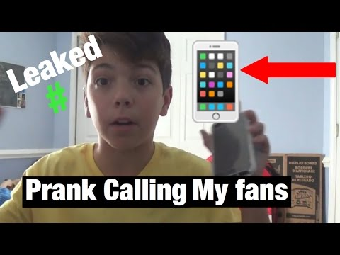 PRANK CALLING MY FANS THAT HAVE MY NUMBER!