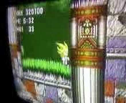 Super Sonic clip from SONIC 3 hard to obtain