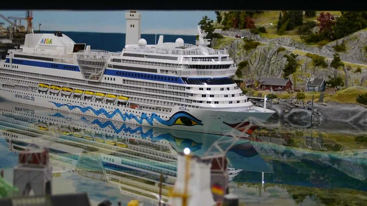 Cruise Ship Miniature Cruising Ship Aidablu