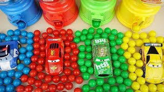 Cars and Poli car toys surprise color candy machine toys play