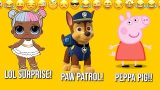 Peppa Pig Kinder Egg Toy LOL Surprise dolls barbie