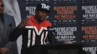 Floyd Mayweather vs. Manny Pacquiao Press Conference Highlights