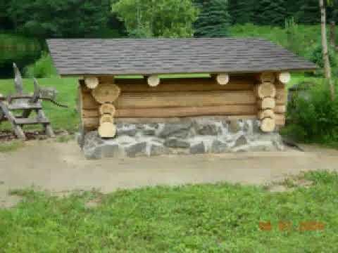 log building - wood shelter - YouTube