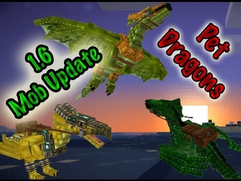 MineCraft Snapshot 13w18a Dragon Pets Red Dragons And Horses!