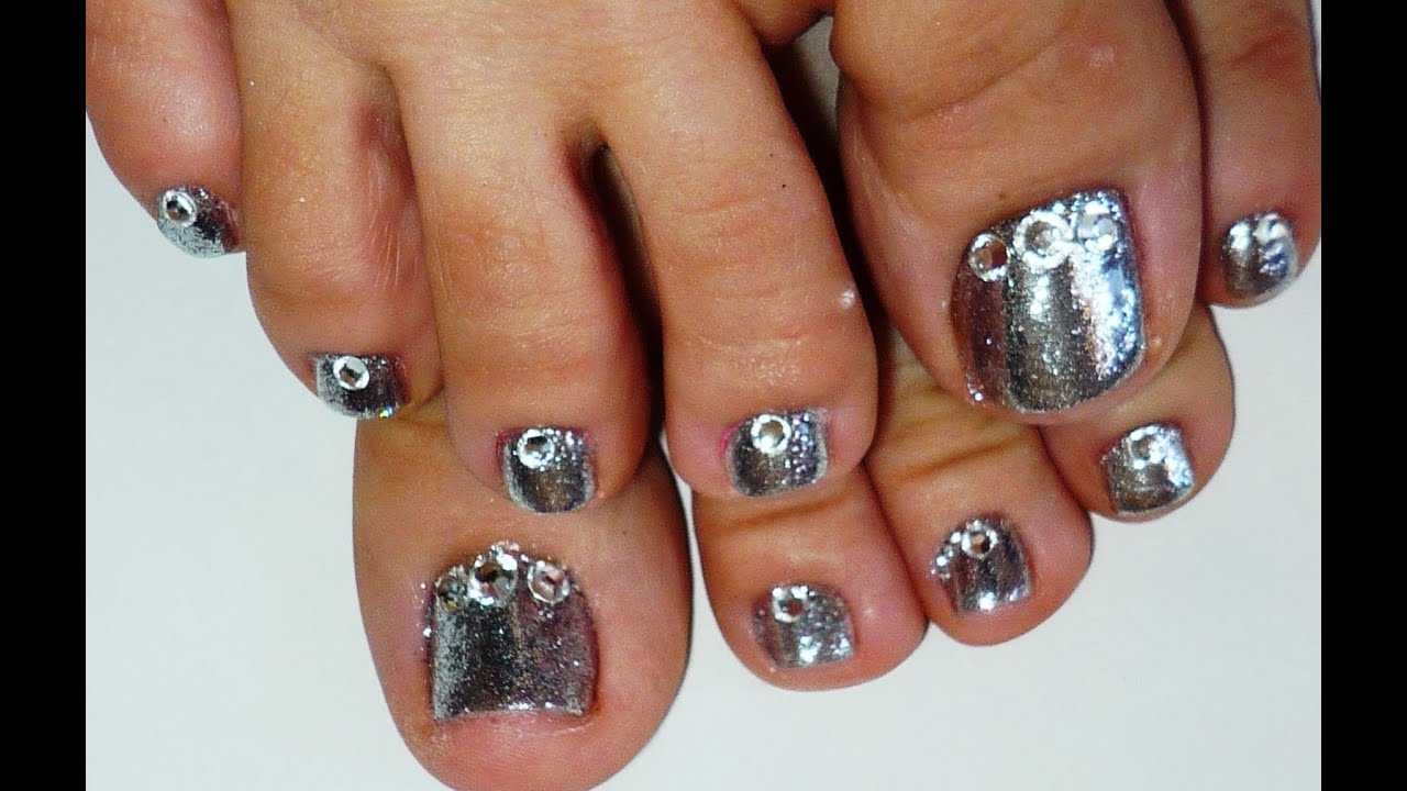Rock Star Toe Nails 1 Using SensatioNail Invincible Gel ...