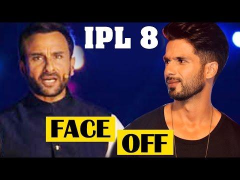 Saif Ali Khan's Faceoff With Kareena's Ex Boyfriend Shahid Kapoor At Ipl 8 Opening Ceremony video