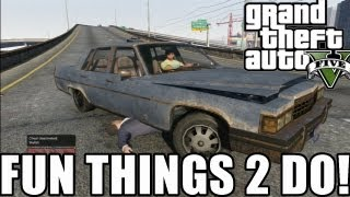 "Fun Things to do in GTA 5 ""Playing in Traffic"" (Grand Theft Auto 5)"