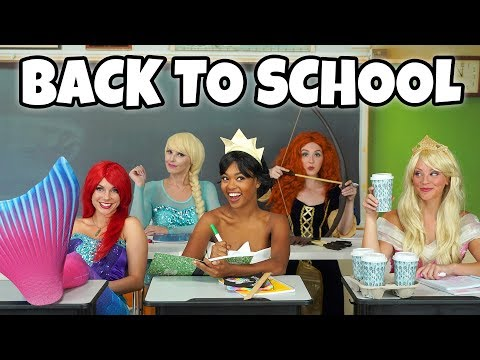 DISNEY PRINCESS BACK TO SCHOOL. (2018) Something Happens with Merida, Ariel, Tiana, Aurora and Elsa.