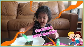 KiannaVlog #15 - Cooking with Mommy & Making Recycle With Daddy