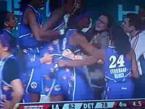 Candace Parker Fight WNBA- LIVE FOOTAGE! Video