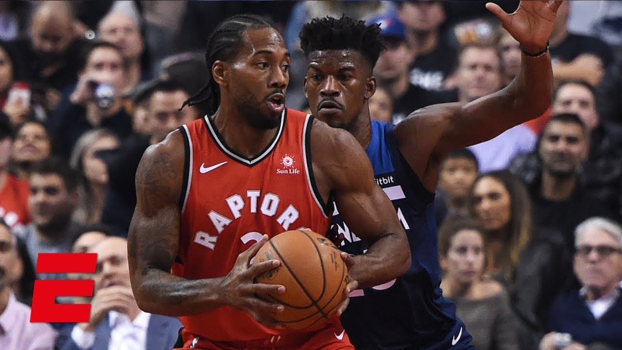 Kawhi Leonard's 35 points and amazing steal lead Raptors to win vs. Timberwolves   NBA Highlights