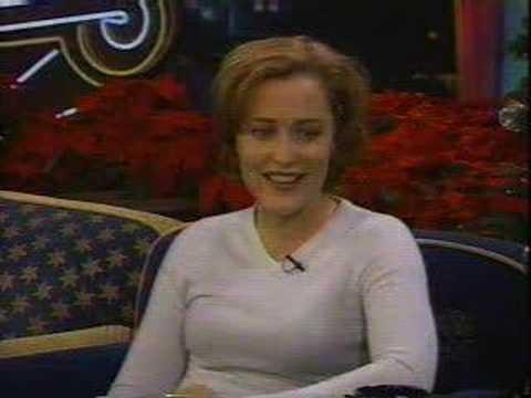 Gillian Anderson Letterman