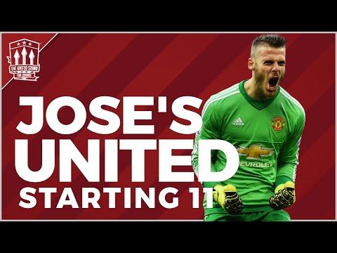 Jose Mourinho's Manchester United Lineup