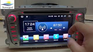 Test: Android 8.0 OS Car GPS navigation for Ford Focus 2008 2009 2010