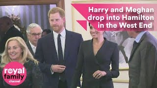 Harry and Meghan arrive in style to watch hit musical Hamilton