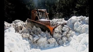 Forestry Tractor -Skidder in Snow