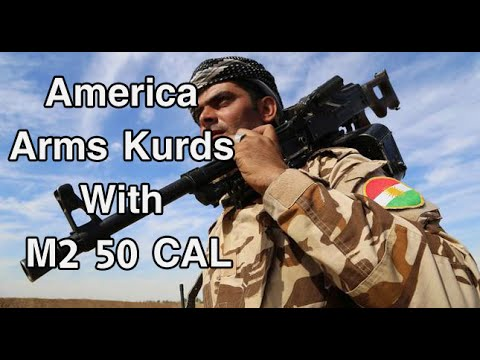 USA Arms Kurdish Peshmerga with M2 50 CAL