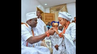 Hidden Traditional Wedding of Ooni of Ife with His New Bride,Naomi Oluwaseyi In His Palace