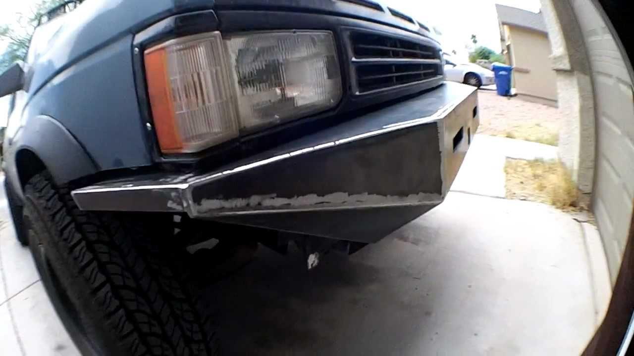 Custom 2002 Nissan Maxima >> Nissan Pathfinder custom front bumper. - YouTube