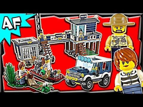 Lego City SWAMP POLICE Station 60069 Stop Motion Build Review
