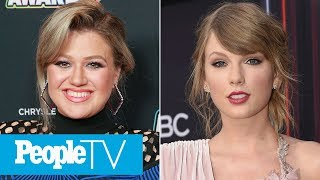 Kelly Clarkson Says Taylor Swift 'Cried A Couple Of Times' As The Voice's Mega Mentor | PeopleTV